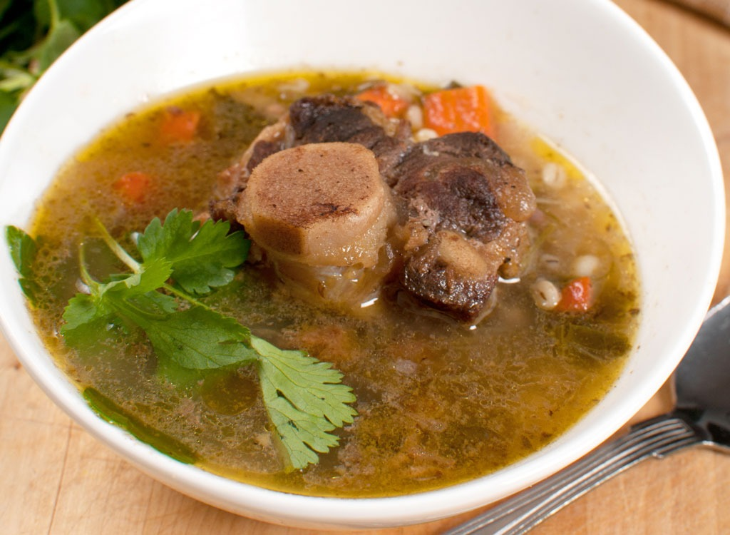 Bone broth - best foods for gut health