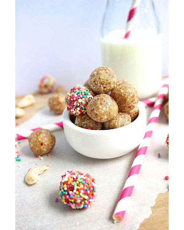 healthy sugar cookie energy bites