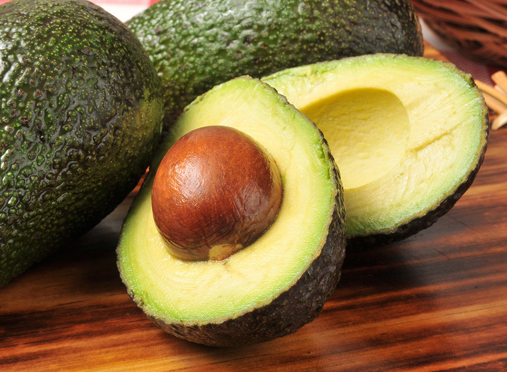 Avocado slices with seed - foods that make you poop
