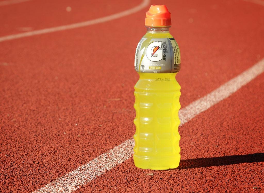 Gatorade sports drink on track