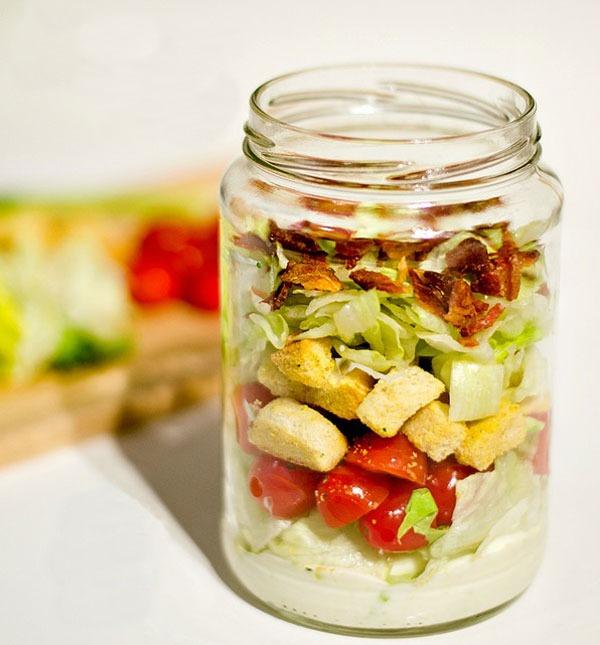 BLT Mason Jar Salad