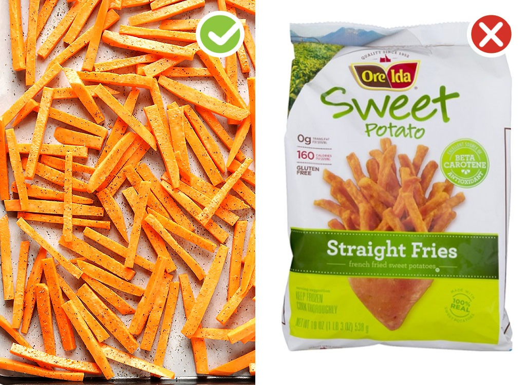 Ultraprocessed homemade swaps french fries