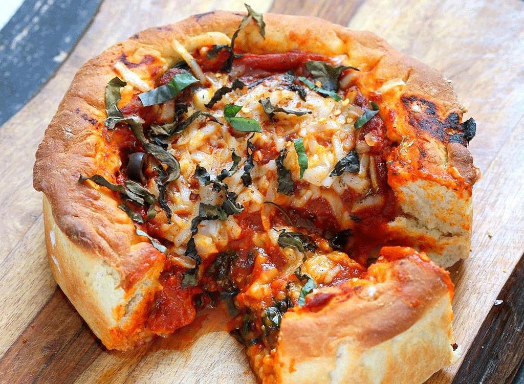 deep dish pizza vegan pizza