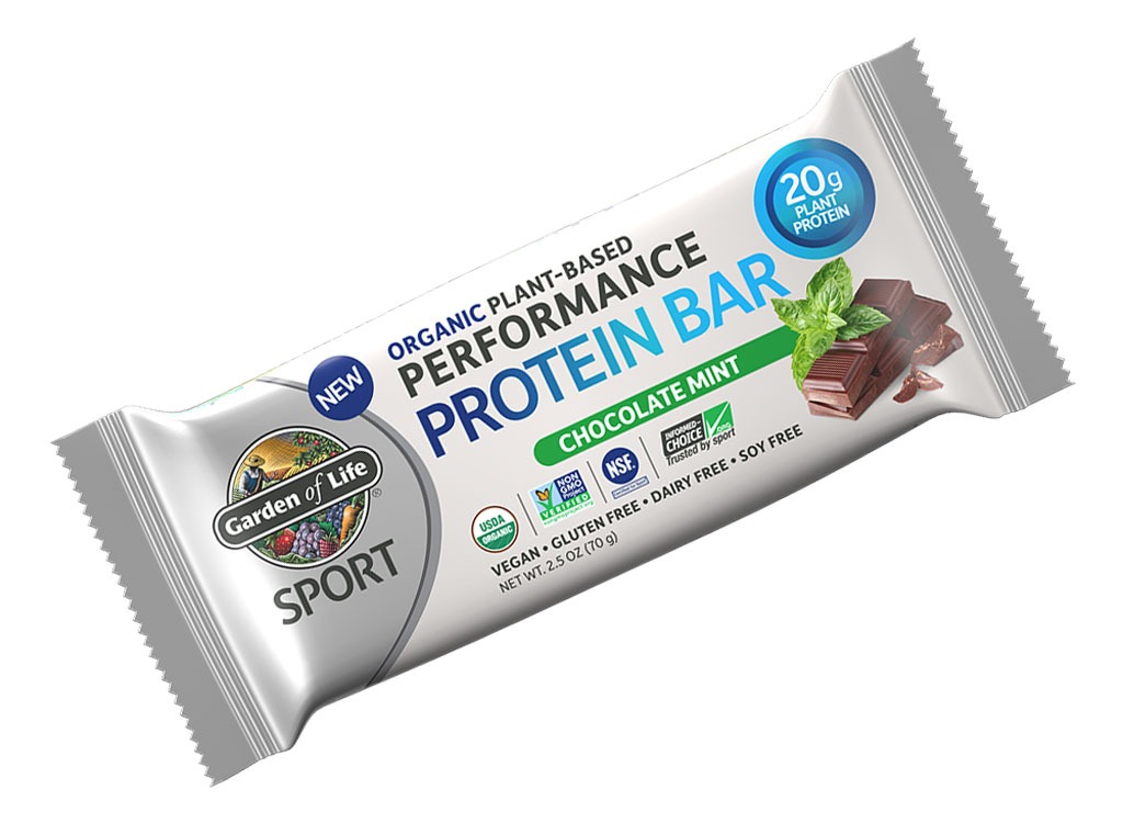 garden of life chocolate mint plant based protein bar