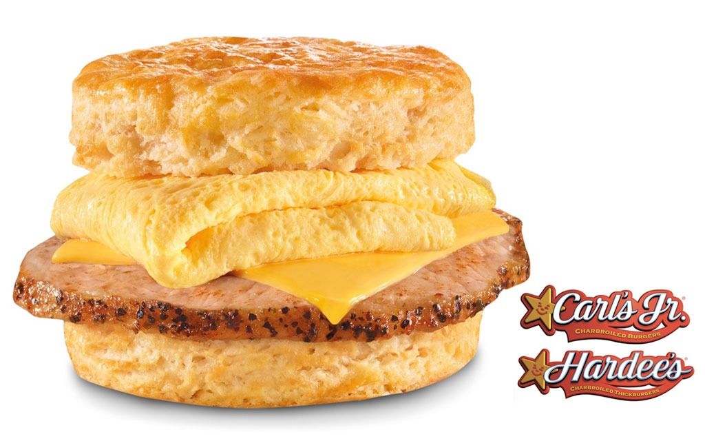 hardees grilled pork biscuit with egg and cheese