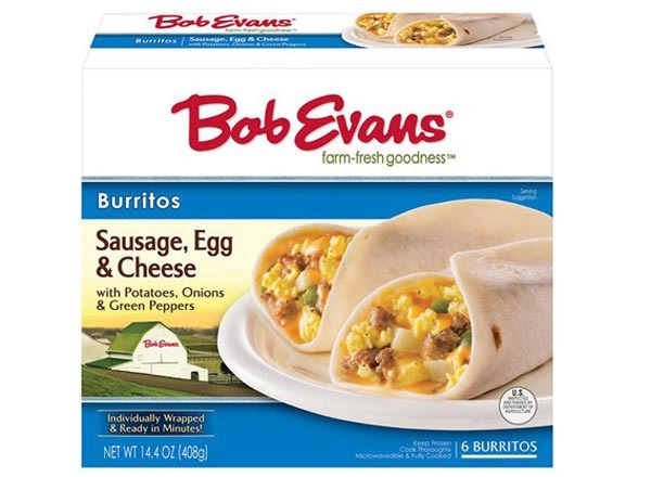 bob evans sausage, egg & cheese burrito
