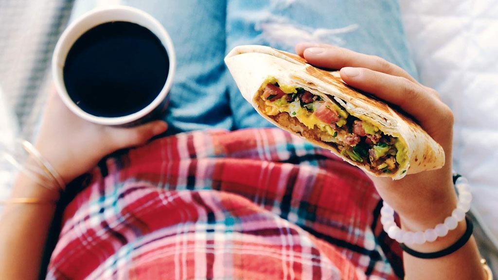 Taco Bell AM Crunchwrap California