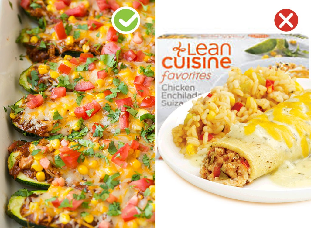 Ultraprocessed homemade swaps frozen meals