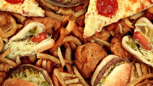 Greasy fast food