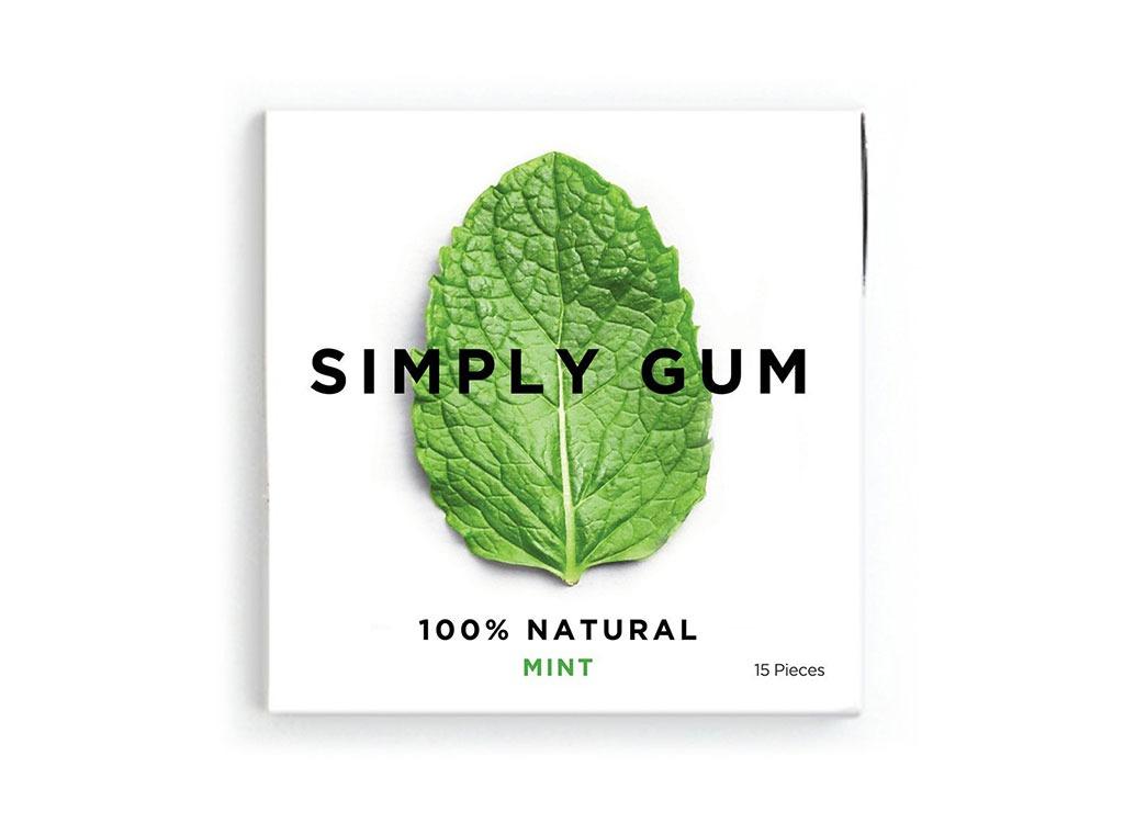 Simply gum natural peppermint gum pack