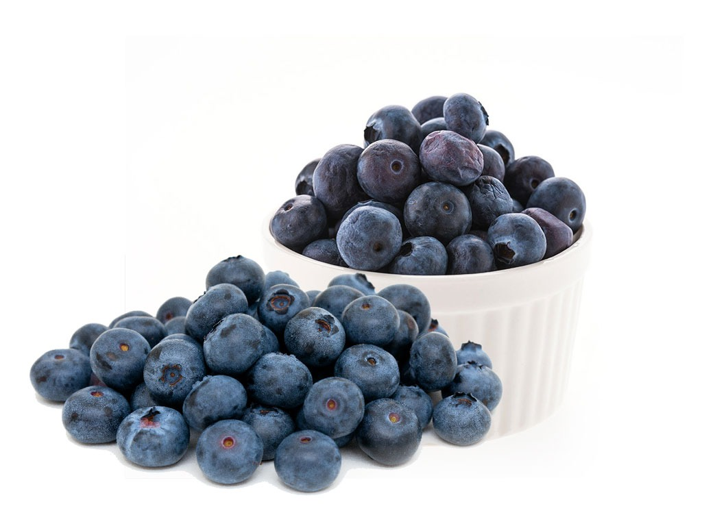 Blueberries and a cup of blueberries