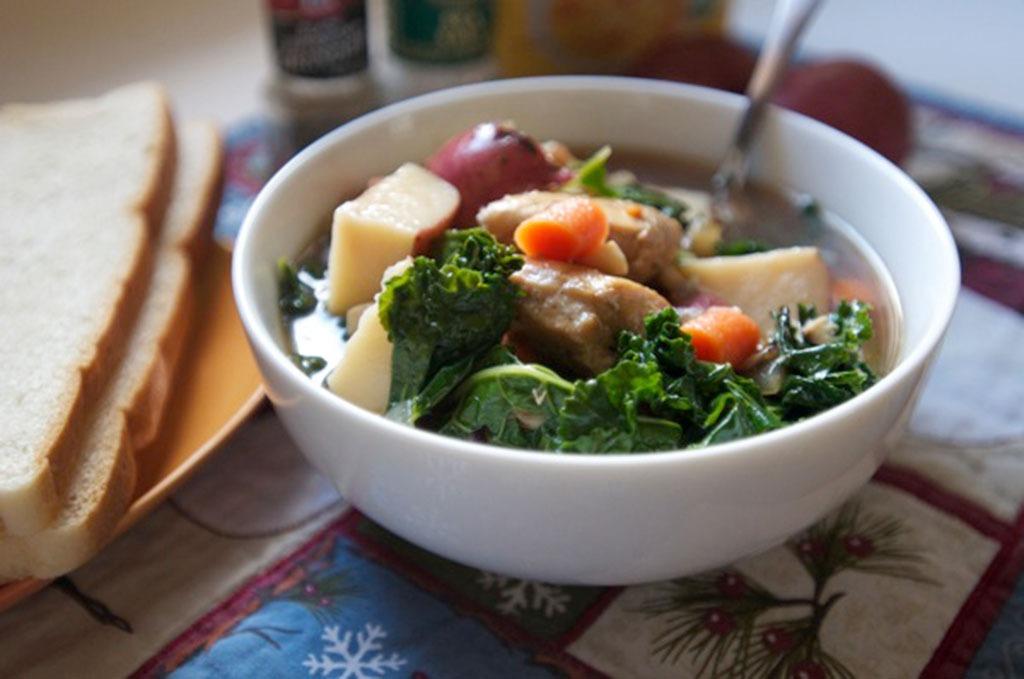 healthy soup recipes - greens