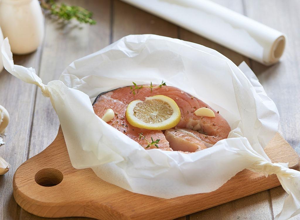 salmon parchment paper