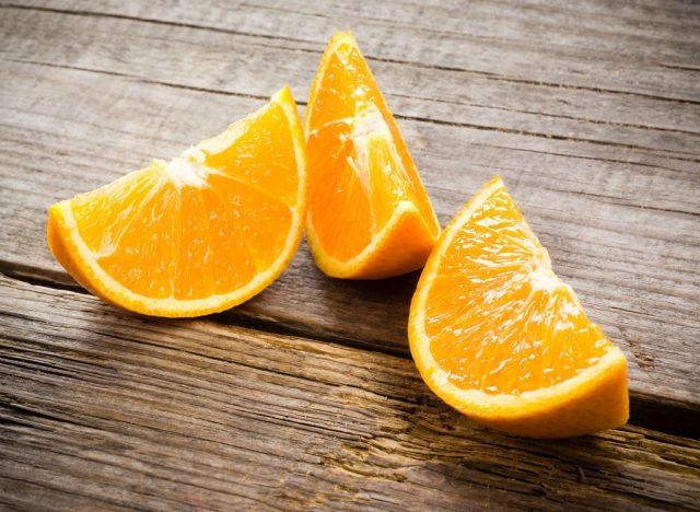 Sugary fruits ranked orange