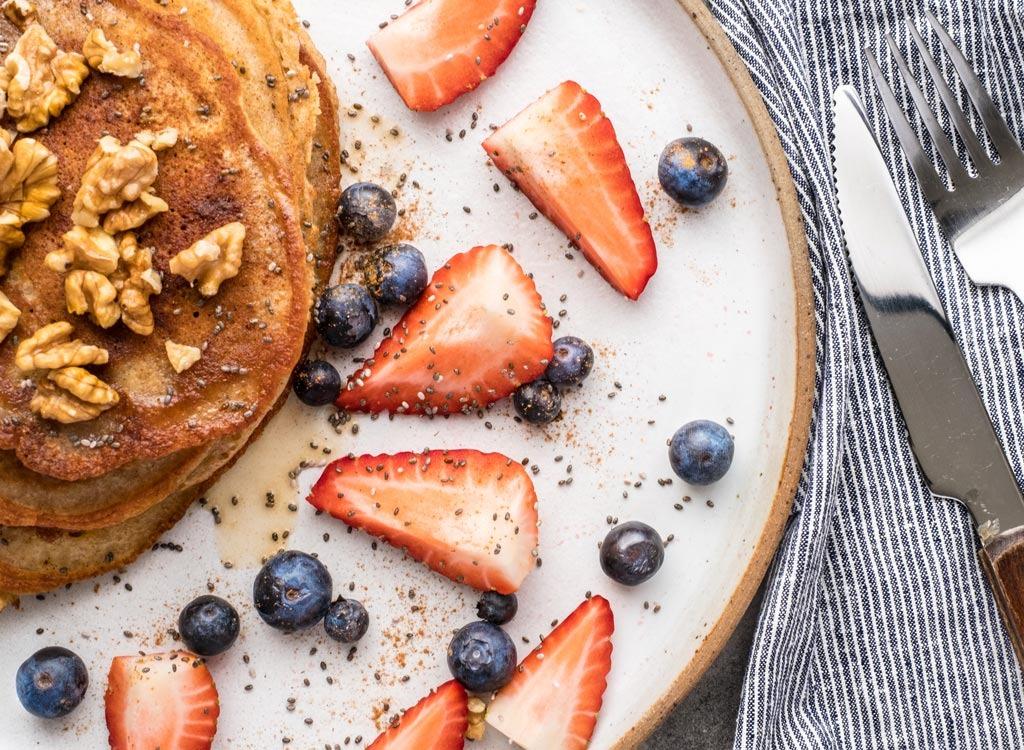 chia topped pancakes