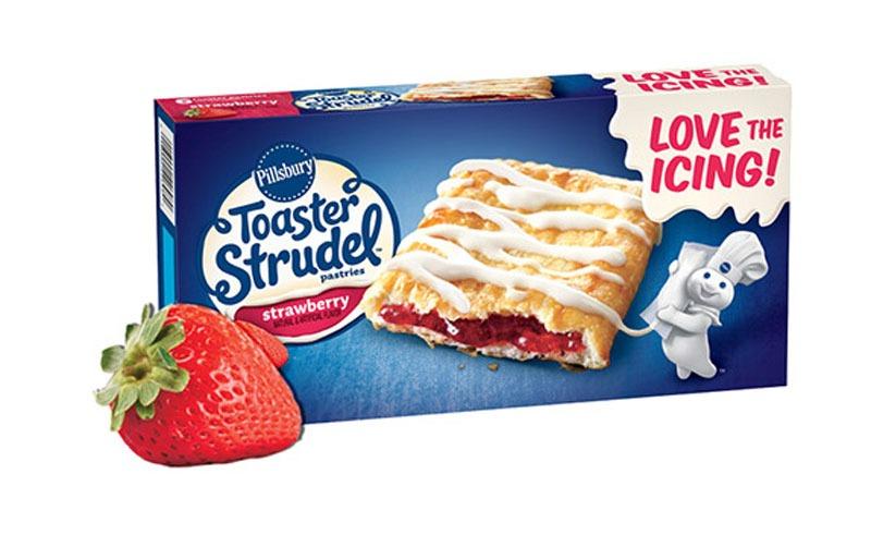Strawberry toaster strudel