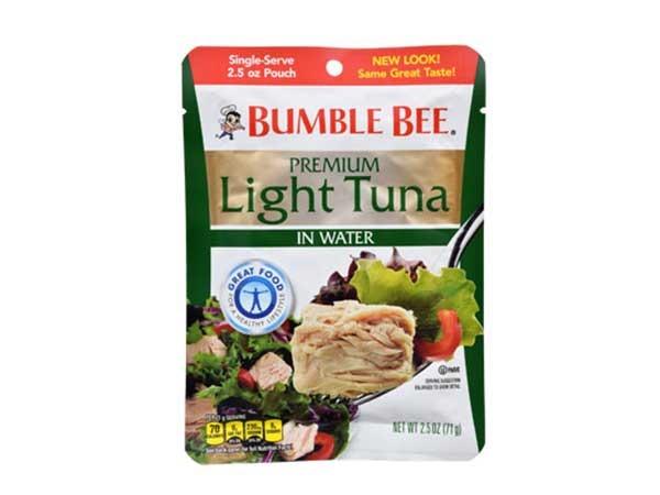 bumble bee premium light tuna pouches