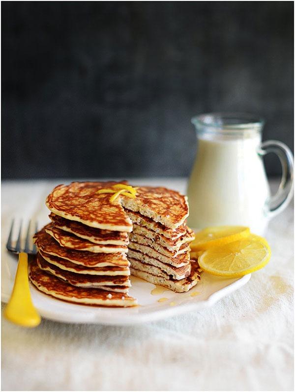 lemon chia seed protein pancake recipe