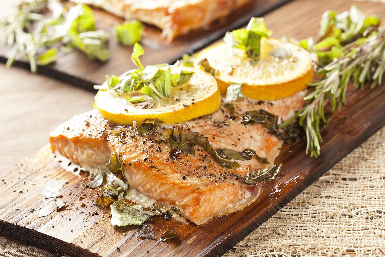 Lemon on fish