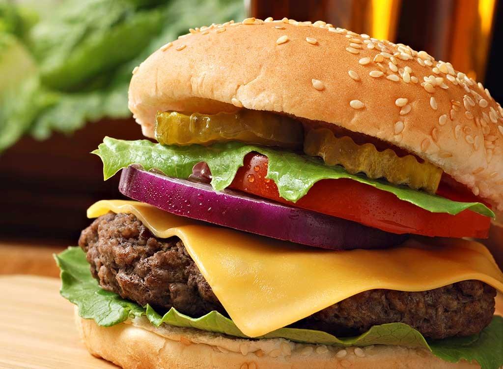 Fast food burgers ranked single burger
