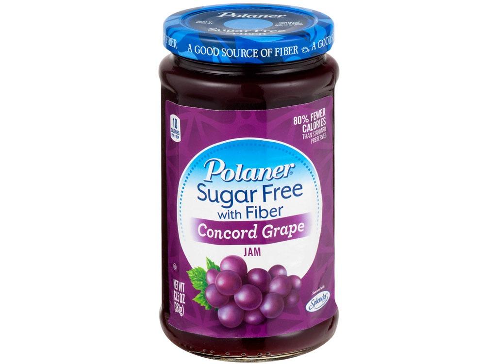 Polander suger free with fiber grape jam