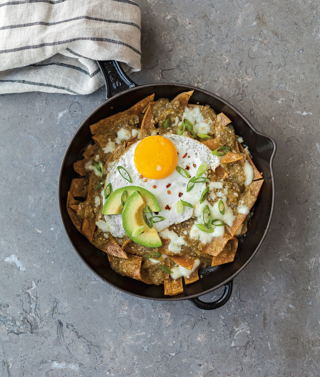 Baked Tomatillo Chilaquiles