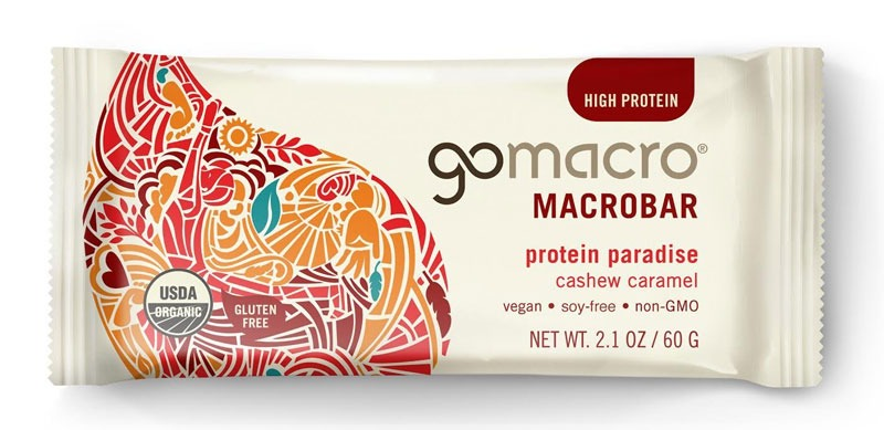GoMacro macrobar protein paradise cashew caramel
