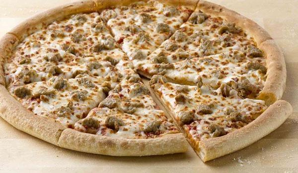ETNT Super Bowl Papa Johns Sausage Pizza