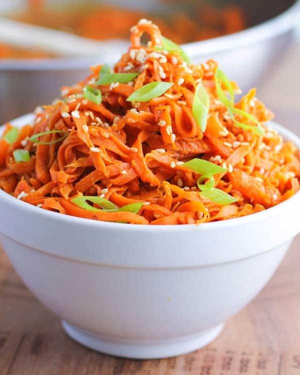 spicy peanut carrot noodles - pb2