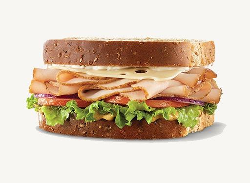 arbys turkey swiss sandwich