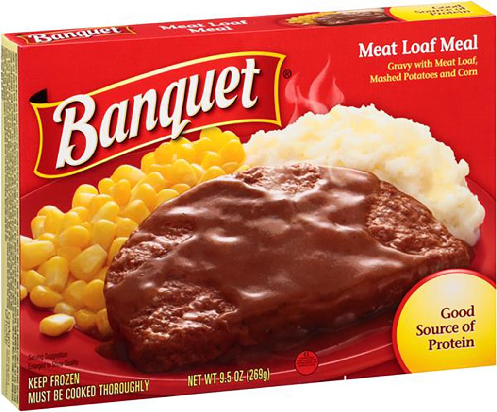 banquet frozen meat loaf dinner