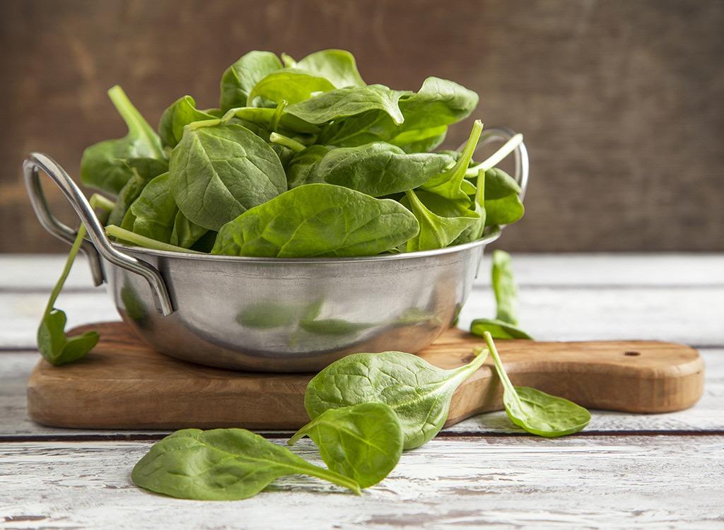 Bikini body spinach