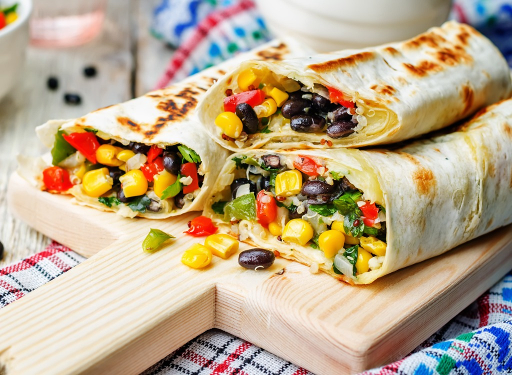 bean quinoa burrito