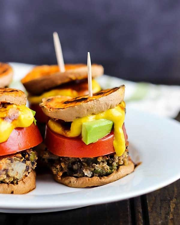 vegan sweet potato sliders