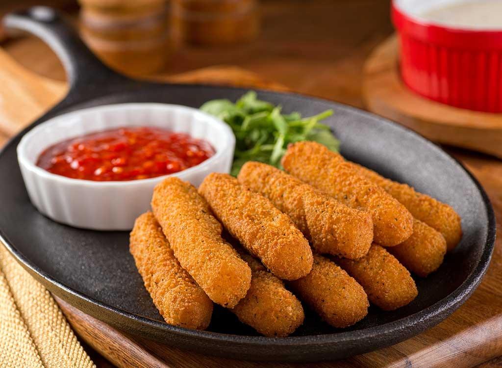Fried cheese mozzarella sticks