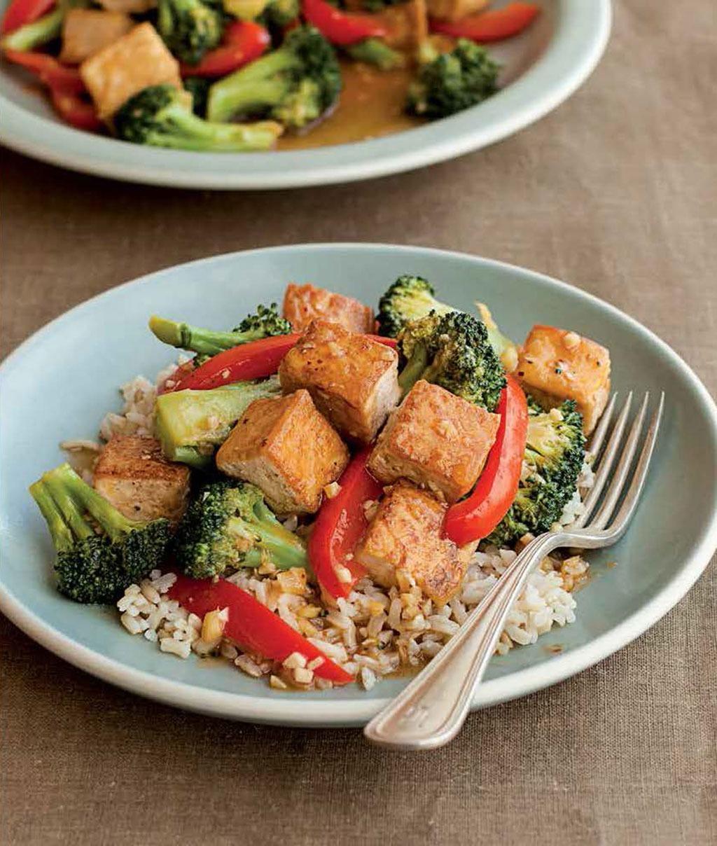 Crispy Orange Tofu with Broccoli