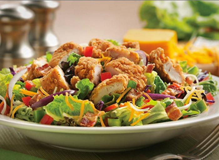 Perkins breaded chicken salad