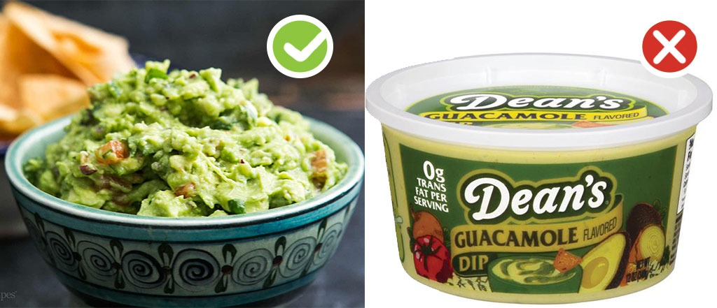 Ultraprocessed homemade swaps dips