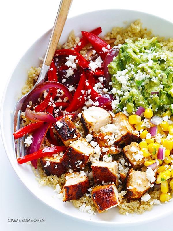 Bowl roundup chicken quinoa burrito bowls