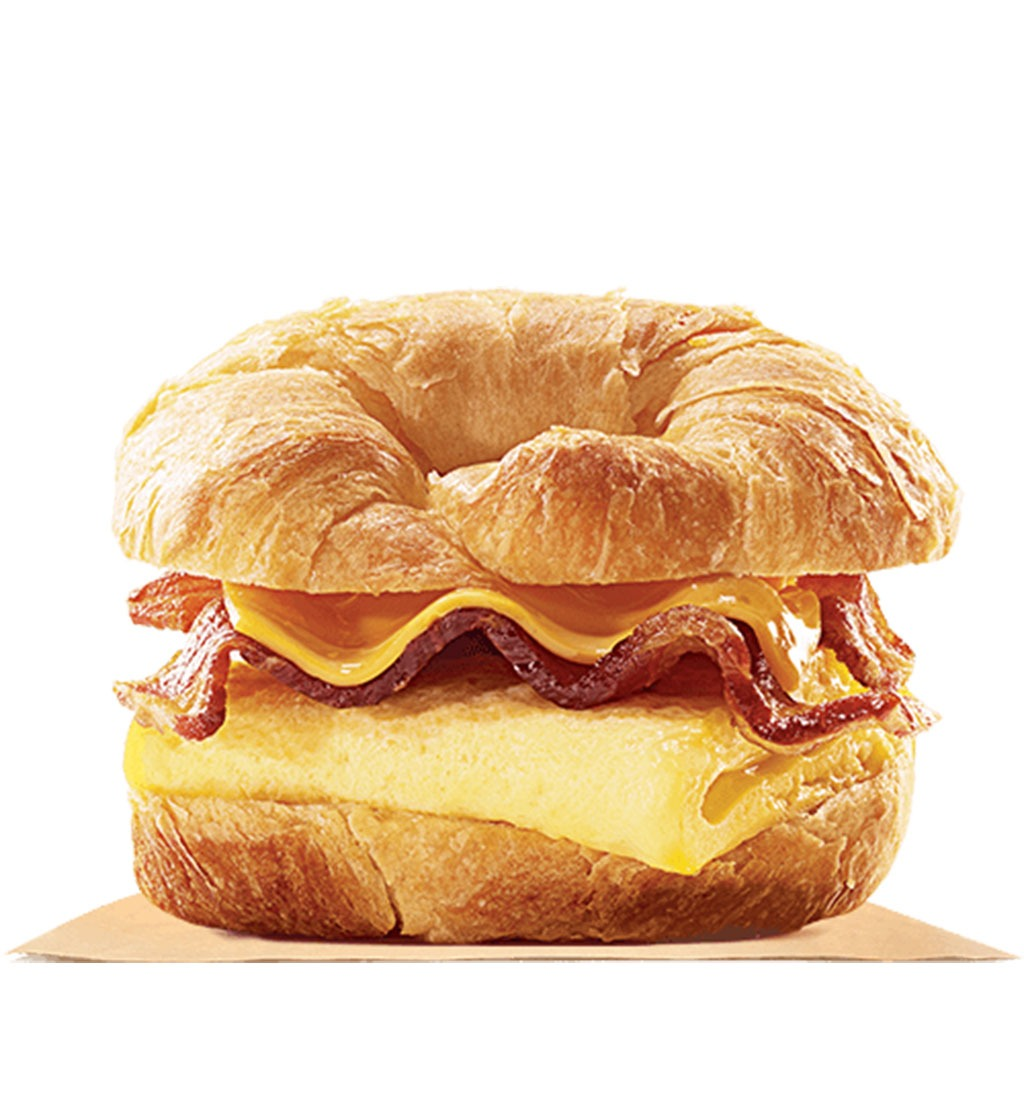burger king bacon egg and cheese croissanwich