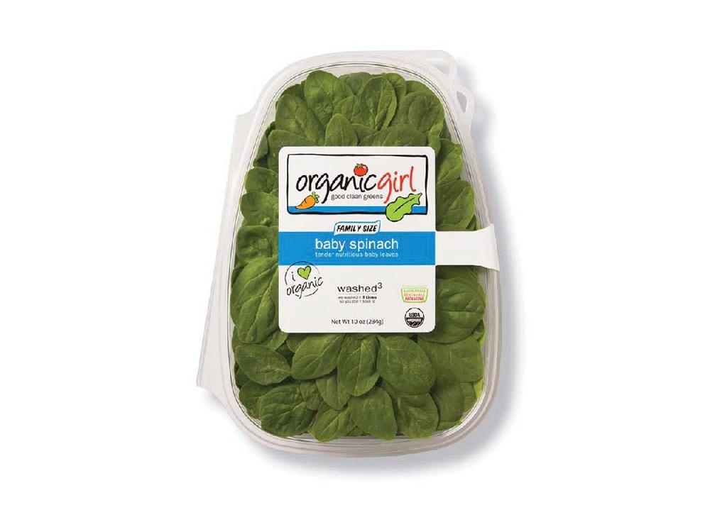 triple washed salad greens