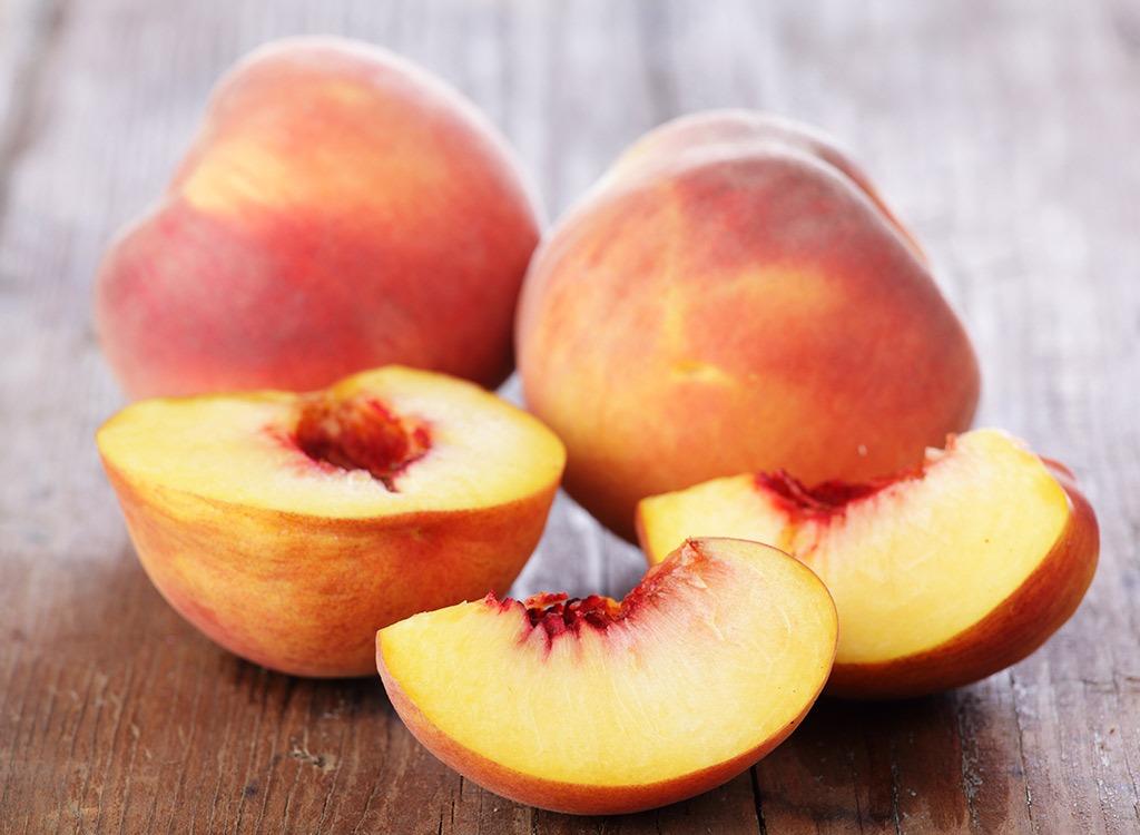Peach slices - foods that make you poop