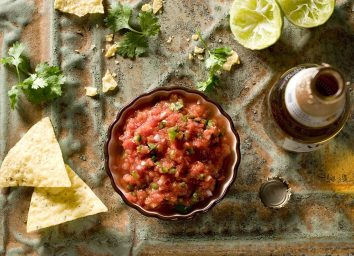 Bowl of salsa ready for some chips