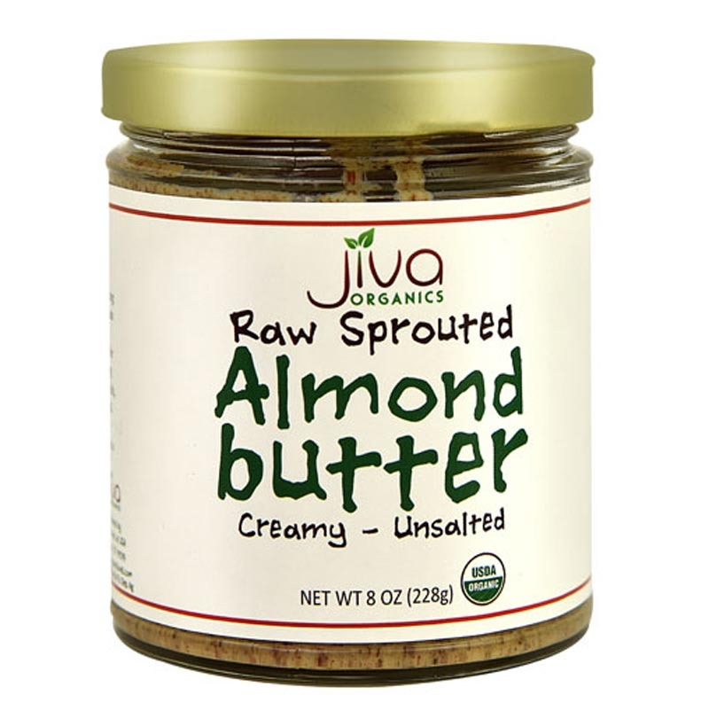 jiva organics raw sprouted almond butter creamy