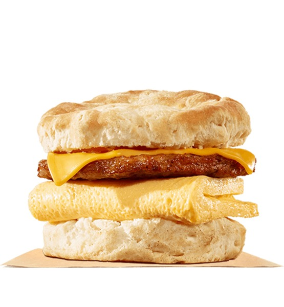 burger king sausage egg & cheese buscuit
