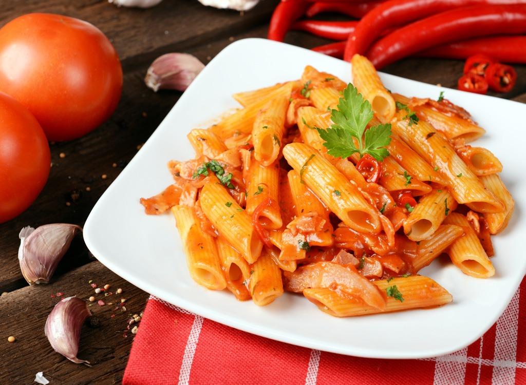 hot sauce Arrabiata pasta
