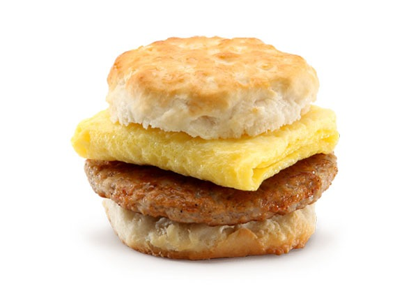 mcdonalds mneu breakfast sausage biscuit with egg