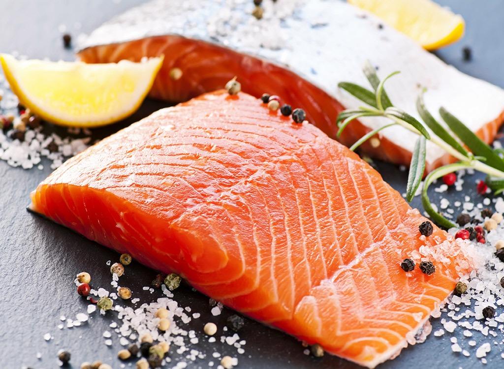 Foods for stress wild salmon
