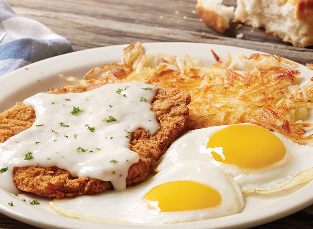 bob evans country fried steak and eggs