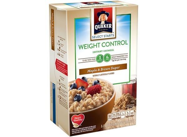 quaker weight control  maple & brown sugar